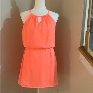 Jodi Kristopher Coral Mini Dress